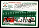 1994 Topps 1954 Archives #10  Jackie Robinson  Back Thumbnail