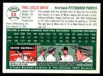 1994 Topps 1954 Archives #11  Paul Smith  Back Thumbnail
