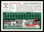 1994 Topps 1954 Archives #19  Johnny Lipon  Back Thumbnail