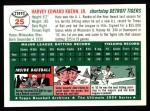 1994 Topps 1954 Archives #25  Harvey Kuenn  Back Thumbnail