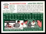 1954 Topps Archives #112  Bill Renna  Back Thumbnail