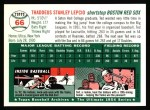 1994 Topps 1954 Archives #66  Ted Lepcio  Back Thumbnail