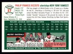 1994 Topps 1954 Archives #17  Phil Rizzuto  Back Thumbnail
