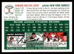 1954 Topps Archives #5  Eddie Lopat  Back Thumbnail