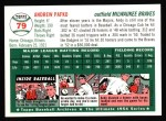 1954 Topps Archives #79  Andy Pafko  Back Thumbnail