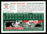 1994 Topps 1954 Archives #70  Larry Doby  Back Thumbnail
