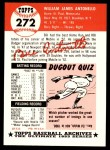 1953 Topps Archives #272  Bill Antonello  Back Thumbnail