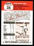 1953 Topps Archives #35  Irv Noren  Back Thumbnail