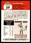 1991 Topps 1953 Archives #59  Karl Drews  Back Thumbnail