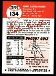 1953 Topps Archives #134  Rube Walker  Back Thumbnail