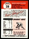 1953 Topps Archives #28  Eddie Pellagrini  Back Thumbnail