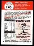 1953 Topps Archives #176  Don Hoak  Back Thumbnail