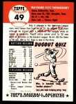 1991 Topps 1953 Archives #49  Faye Throneberry  Back Thumbnail