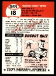 1991 Topps 1953 Archives #18  Ted Lepcio  Back Thumbnail
