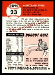 1991 Topps 1953 Archives #23  Toby Atwell  Back Thumbnail