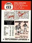 1953 Topps Archives #123  Tommy Byrne  Back Thumbnail