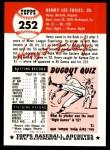 1991 Topps 1953 Archives #252  Hank Foiles  Back Thumbnail