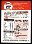 1953 Topps Archives #127  Clint Courtney  Back Thumbnail