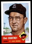 1953 Topps Archives #127  Clint Courtney  Front Thumbnail
