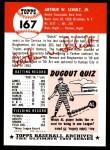 1953 Topps Archives #167  Art Schult  Back Thumbnail