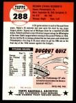 1953 Topps Archives #288  Robin Roberts  Back Thumbnail
