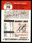 1953 Topps Archives #79  Johnny Wyrostek  Back Thumbnail