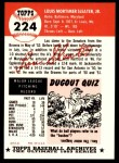 1953 Topps Archives #224  Lou Sleater  Back Thumbnail