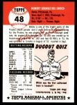 1991 Topps 1953 Archives #48  Bobby Del Greco  Back Thumbnail