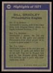 1972 Topps #286   -  Bill Bradley All-Pro Back Thumbnail
