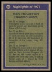 1972 Topps #287   -  Ken Houston All-Pro Back Thumbnail