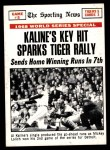 1969 Topps #166   -  Al Kaline / Tim McCarver 1968 World Series - Game #5 - Kaline's Key Hit Sparks Tiger Rally Front Thumbnail