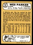 1968 Topps #533  Wes Parker  Back Thumbnail