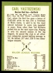 1963 Fleer #8  Carl Yastrzemski  Back Thumbnail