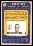1969 Topps #24  Bobby Orr  Back Thumbnail