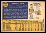1970 Topps #660  Johnny Bench  Back Thumbnail