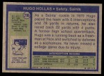 1972 Topps #296  Hugo Hollas  Back Thumbnail