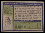 1972 Topps #309  Tommy Nobis  Back Thumbnail