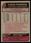 1977 Topps #7  Mike Phipps  Back Thumbnail