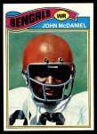1977 Topps #89  John McDaniel  Front Thumbnail