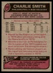 1977 Topps #103  Charlie Smith  Back Thumbnail