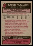 1977 Topps #116  Mike Fuller  Back Thumbnail