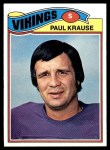 1977 Topps #125  Paul Krause  Front Thumbnail