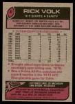 1977 Topps #8  Rick Volk  Back Thumbnail