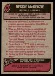 1977 Topps #48  Reggie McKenzie  Back Thumbnail