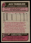1977 Topps #80  Jack Youngblood  Back Thumbnail