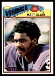 1977 Topps #84  Matt Blair  Front Thumbnail