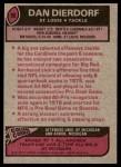 1977 Topps #90  Dan Dierdorf  Back Thumbnail