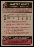 1977 Topps #107  Walter White  Back Thumbnail