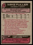 1977 Topps #116  Mike Fuller  Back Thumbnail