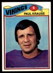 1977 Topps #125  Paul Krause  Front Thumbnail